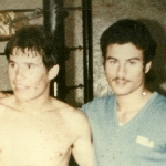 Julio Cesar Chavez and Paulie Mercado